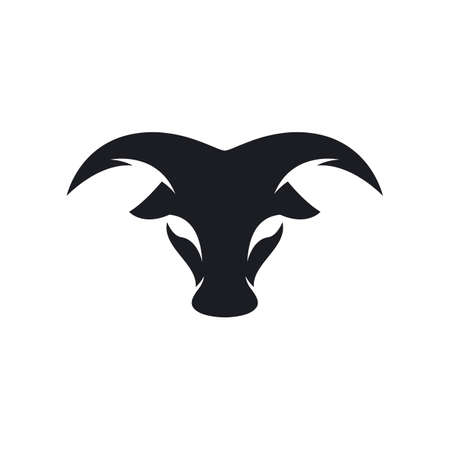 Bull head logo vector icon design 矢量图像