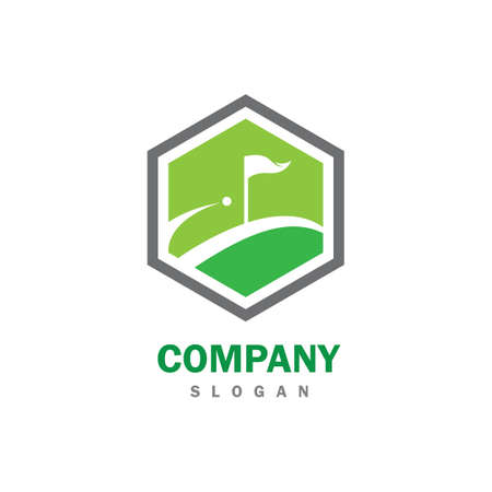 Golf logo vector icon illustration