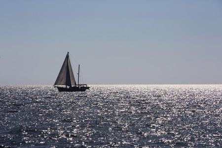 horizont: Small sailboats on the horizont on Croatia.