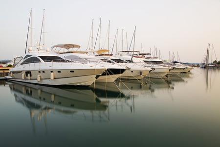 Yachts moored at Sukosan Harbor near Zadar, Croatia