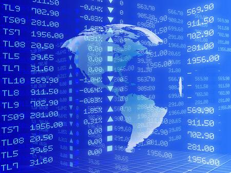 international monitoring: Digital illustration of Stock market graph, Mixed Charts Stock Photo