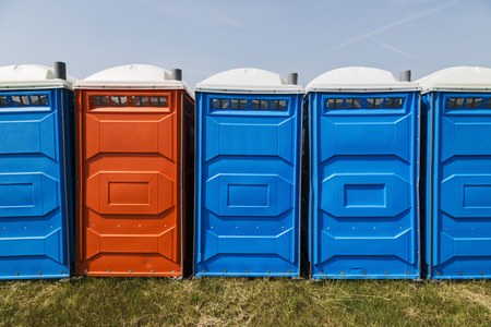 leases: Bio mobile toilets on grass