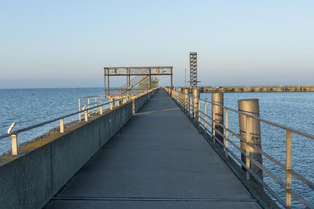 friedrichshafen: Friedrichshafen pier and sightseeing tower from harbor, GERMANY Stock Photo