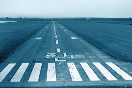 faa: Airport runway with marking.