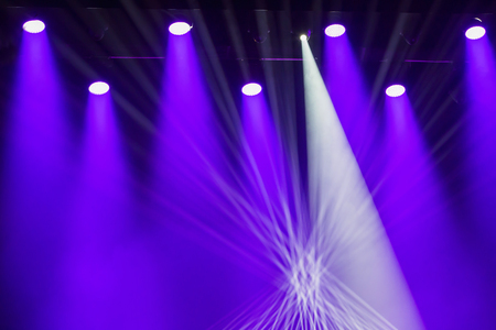 Theatrical Lighting Effects Stage Lights On A Console Smoke Image Of