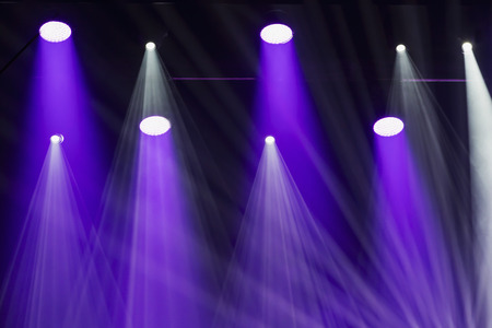 stage lighting: Stage lights on a console, smoke, image of stage lighting effects