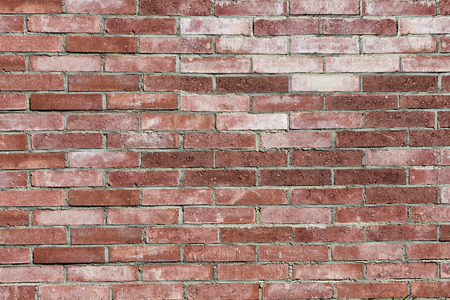 inlaid: Red brick wall background, old brick wall inlaid regularly