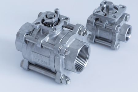 Group 2 valves, ball valve  with selective focus on thread fittings