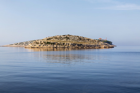 kornati national park: Beautifull island with lighthouse in National Park Kornati, Croatia