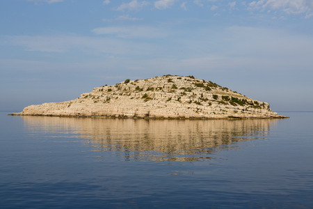 Beautifull island with lighthouse in National Park Kornati, Croatia