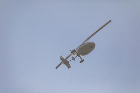 white gyroplane in sky, Ultralight gyroplane