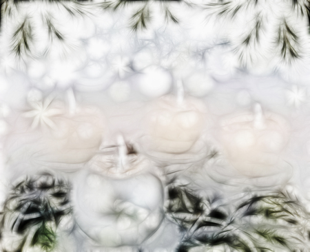 Advent lights Christmas candles four flames are burning, abstract background Zdjęcie Seryjne
