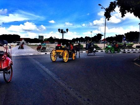 jogjakarta: Street in Yogyakarta, Indonesia Stock Photo