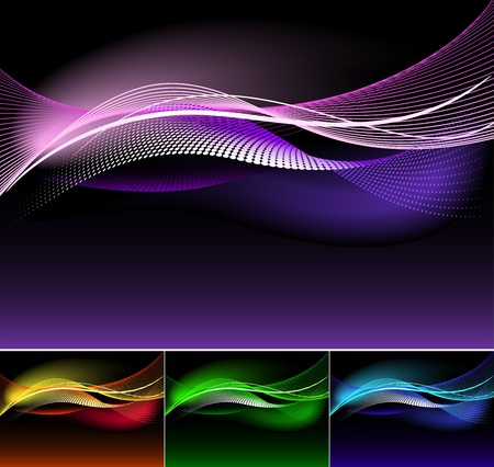 Abstract background, available in 4 colors.   Vector