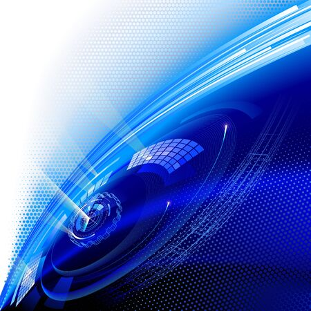Modern technology vector background.