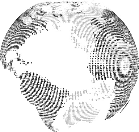 Digital globe isolated  Illustration