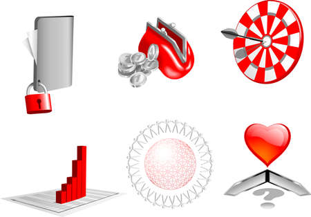 3d design business  elements  Stock Vector - 12809001