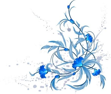 Grunge floral decoration