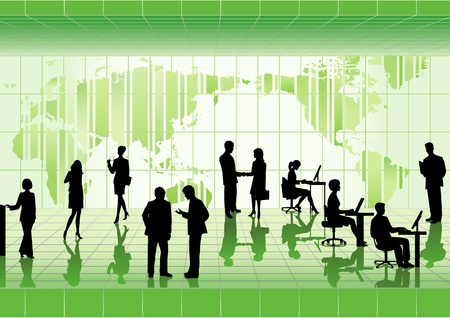 Group of business people   Ilustracja