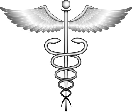 wings logos: Caduceus  Illustration