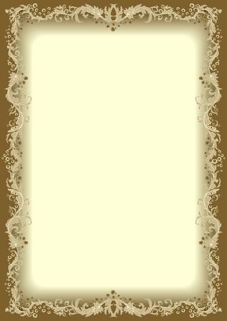 Floral frame  Иллюстрация