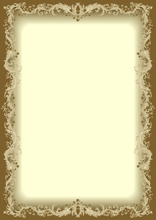 diploma border: Floral frame  Illustration