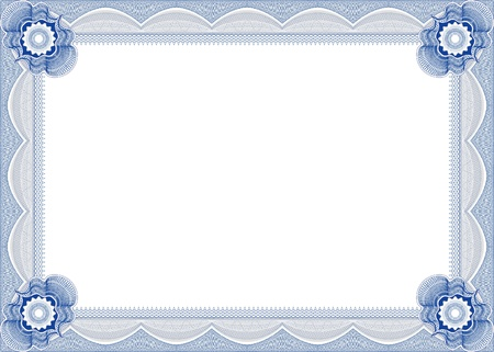 certificate design: Frame for diploma  Illustration