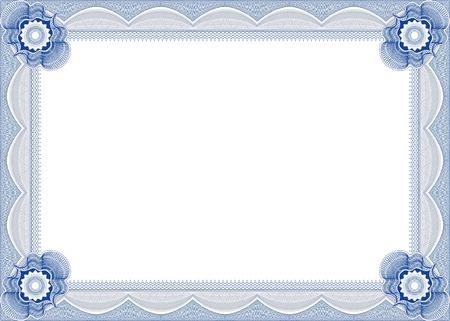 stock certificate: Frame for diploma  Illustration