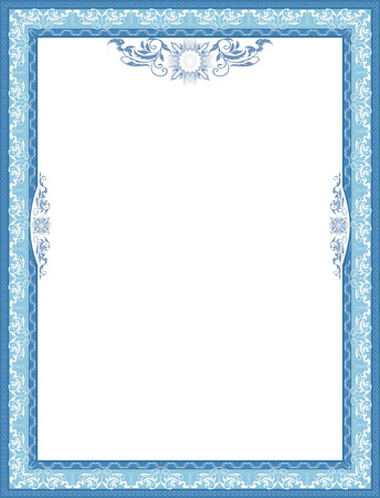 credential: Frame for diploma  Blue  Illustration
