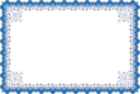 award certificate: Diploma border