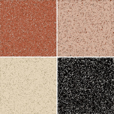 Granite seamless background, available in 4 colors  Vector