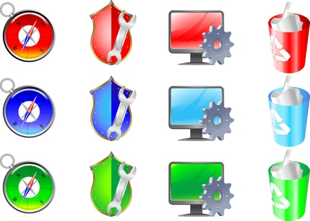 internet safety: Internet icons