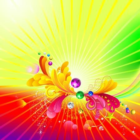 bingo: Luminous background  Illustration