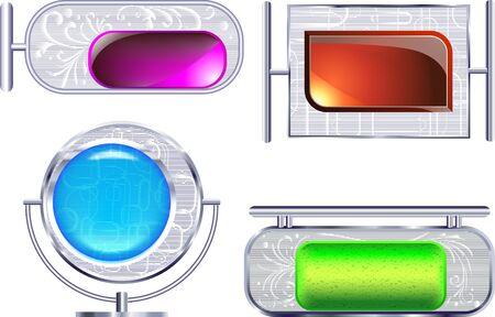 Metallic frames  Vector
