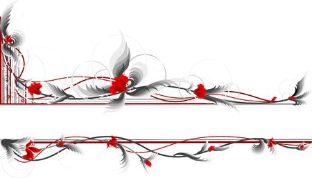stencil flower: Floral frame  Illustration
