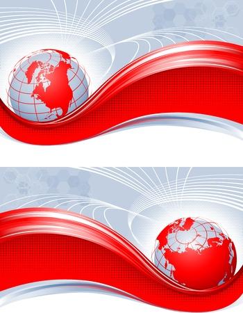 Red globe Stock Vector - 13217088