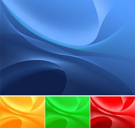fondos azules: Resumen de antecedentes, disponible en 4 colores Vectores