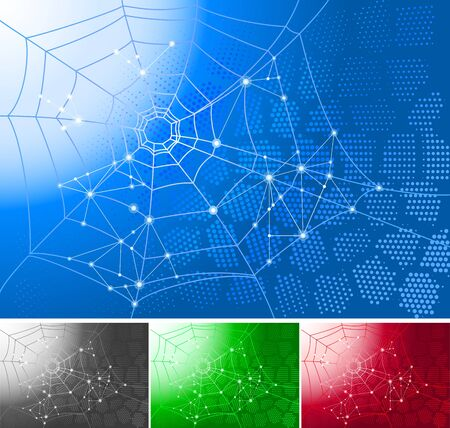 Abstract background with spider web  Available in 4 colors Stock Vector - 13217260