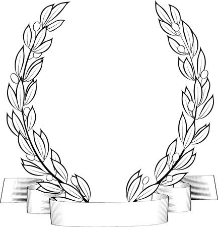 Laurel  wreath  Иллюстрация