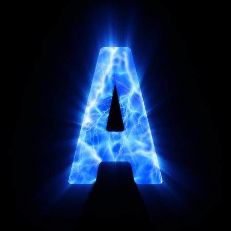 flame alphabet: Plasma font  A