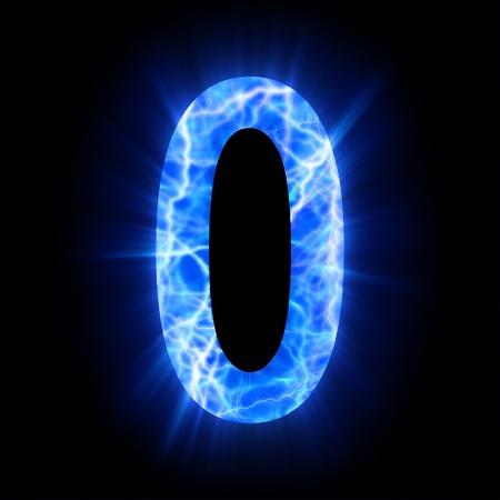 Plasma numeral  0 Фото со стока - 13323596