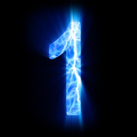 Plasma numeral  1  Stock Photo