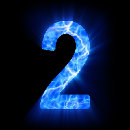 Plasma numeral  2  Stock Photo