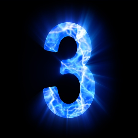 Plasma numeral  3