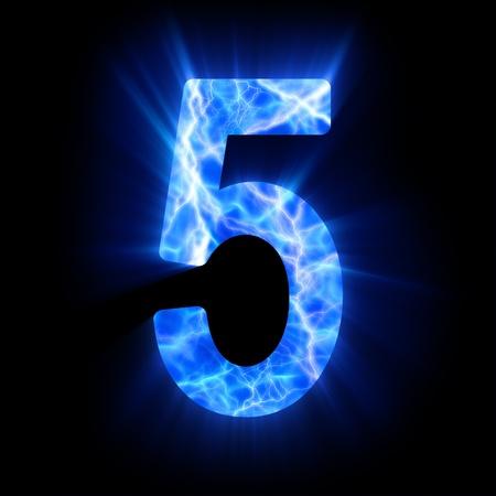 Plasma numeral  5