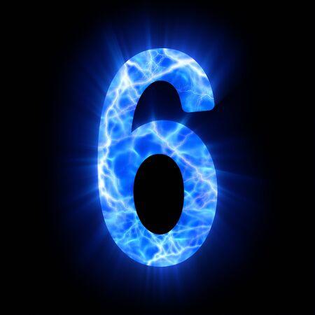 numbers abstract: Plasma el numeral 6