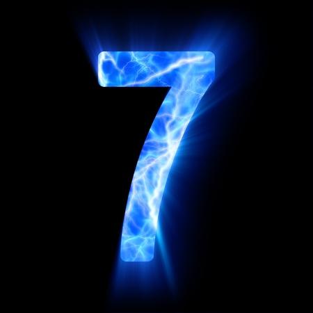 Plasma numeral  7