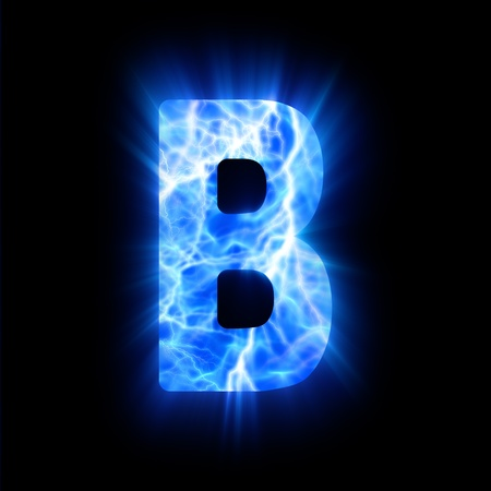 burning alphabet: Plasma font  B
