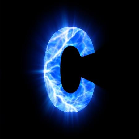 Plasma font  C Фото со стока - 13323582