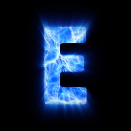 flame alphabet: Plasma font  E